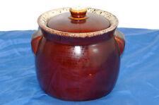 Antique Brown Bean Pot