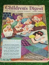 CHILDREN'S DIGEST MAY 1952 - SNOW WHITE PAPER BACK