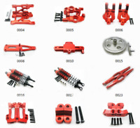 Aluminum Metal Upgrade Parts For 1/12 WLtoys 12428 12423 RC Car DIY Parts Red