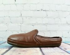LL Bean Mens Brown Elkhide Scuffs Leather Slip On Slippers Size 11 M