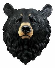 "Ebros Large Taxidermy Art Olympic Black Bear Head Resin Wall Plaque 16""H"