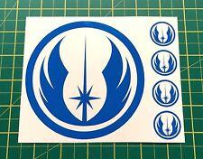 Calcomanías Decorativas Star Wars Jedi Azul Ajuste coches, bus, camión, tabletas, Pared, casco