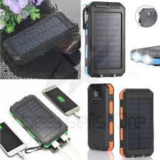 USA Waterproof 900000mAh 2 USB Portable Solar Battery Charger Solar Power Bank