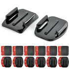 12PCS Flat Curved Helmet Accessories Adhesive Mount For Gopro Hero 1/2/3 HD Hero
