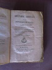 LABAUME Eugène - Histoire abrégée de la République de Venise - 1811 - Tome 1