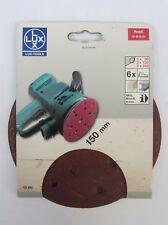 Carta Abrasiva Assortita x Levigatrice AEG Bosch DeWalt 6pz Attacco Velcro 150mm