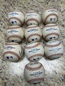 10 Used Major League Baseballs ORMLB - Very Good Condition