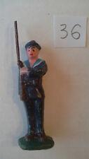 1 soldat plomb fusilier marin uniforme bleu ancien guerre 14-18 LR col bleu