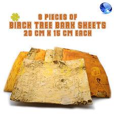 8pcs A5 Birch Tree Bark Sheets Wooden Shapes Crafts Home Venue Rustic Decoration