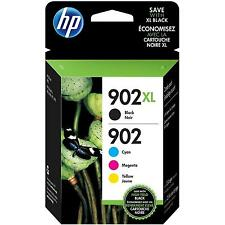 4-PACK HP GENUINE 902XL Black & 902 Color Ink (NO RETAIL BOX) OFFICEJET PRO 6978