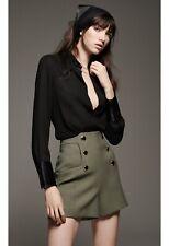 Zara Shirt Limited Edition Black Blouse Satin XS