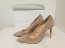 Manolo Blahnik 'BB' Pointy Toe Pump (Women) 10US / 40EU, TAUPE SUEDE