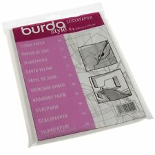 Burda Tissue Paper Dressmakers Paper Trace Pattern off Pattern Sheets x 5 Sheets