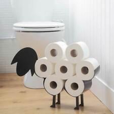 New Black Sheep Toilet Roll Holder Paper Bathroom Free Standing Metal Storage