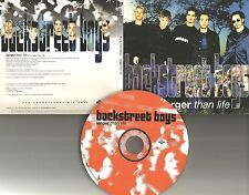 BACKSTREET BOYS Larger than Life W/ RARE VIDEO MIX PROMO Radio DJ CD Single 1999