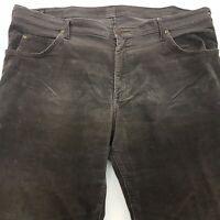 Lee  Mens Vintage Corduroy Jeans W42 L31 Grey Regular Fit Straight High Rise