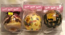 Vintage Barbie Christmas Ornaments rare collectable Lot Of 3 1996