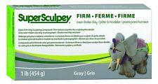Polyform Super Sculpey Firm Oven Bake Clay, Gray, 1lb 1 lb Free Shipping