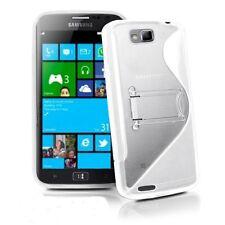 TPU Silikon Hülle f. Samsung Ativ S i8750 Tasche Case Cover Handy Schutz Weiß