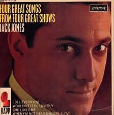 "Jack Jones(7"" Vinyl P/S)Four Great Songs EP-London-RE-R 1433-UK-1963-VG/VG"