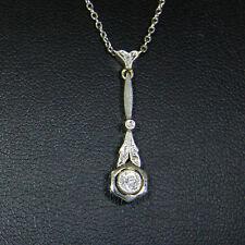 Zierliches Art Deco Collier (585er Gold) mit Brillantsolitär