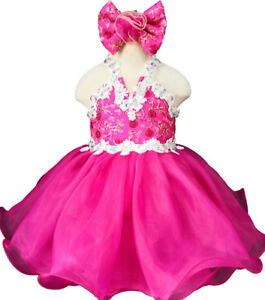 Infant/toddler/baby Crystals Sequins Lace Pageant  Dress EB040N