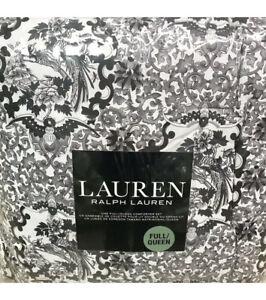 Ralph Lauren Porcelain Tamarind Black White Full Queen Comforter 3p Set NEW