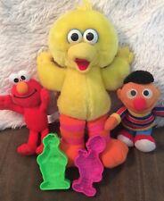 SESAME STREET SENSORY Lot Plush Tickle Me Big Bird Bean Bag Ernie, Elmo, Play Do
