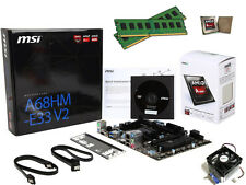 New AMD 4.0GHz 16GB DDR3 A4-7300 MSI Motherboard CPU RAM Desktop Gaming Combo