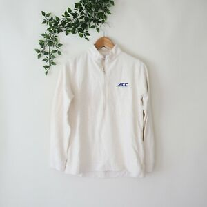 Peter Millar Women's 1/2 Zip Soft Long Sleeve Pullover Top ACC Ivory