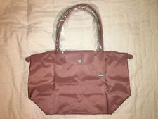LONGCHAMP Bag LE CLUB PLIAGE Limited Ed ANTIQUE PINK Large Long Handle PARIS