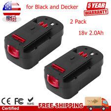 Replace for Black and Decker HPB18 Battery Ni-MH 2.0Ah BD18PSK BDGL1800 BDGL18K