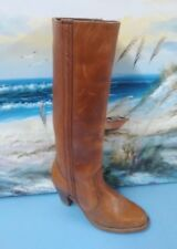 Dexter Tall Boots Western Fashion Womens Size 7.5 M Cowboy Cowgirl Brown Leather