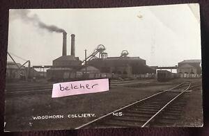 1919 Woodhorn Colliery Ashington Northumberland Coal Mine Pit RP Postcard