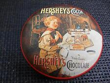 Old Vtg BristolWare HERSHEYS Chocolate Cocoa Metal Tin CAN Container Advertising