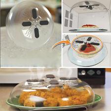 DCE0 Food Splatter Cover Microwave Hover Dishwasher-Safe Guard W/Steam Vents