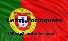 Learn Portuguese 100 Lessons Audio Book MP3 CD iPod Friendly  Language disc