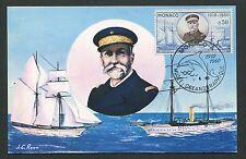 MONACO MK 1960 OZEANOGRAPHISCHES MUSEUM SCHIFF SHIP MAXIMUM CARD MC CM d5857