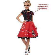 Polyester Complete Outfit 1950s Costumes for Girls