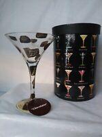 Lolita Glasses Martini Collection Chocolatini recipe Love my Martini New in Box