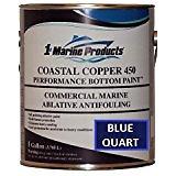 Coastal Copper 450 Multi-Season Ablative Antifouling Bottom Paint Blue Quart