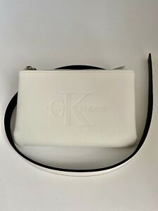 Calvin Klein Fanny Pack Belt Waist Bag Pouch White L/XL NWT