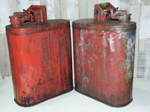 2 X PROTECTOSEAL CO CHICAGO 8485 VINTAGE USED JERRY CANS
