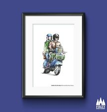 P: Scooter, Vespa, Scooter, PX125, inspired print by the Foley Pottery Studio