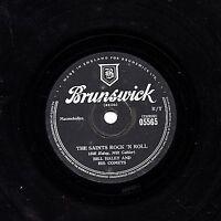 CLASSIC BILL HALEY UK 78 THE SAINTS ROCK 'N ROLL/ R-O-C-K  BRUNSWICK 05565 EX+
