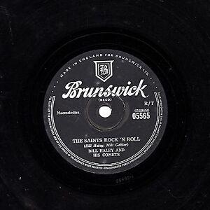CLASSIC BILL HALEY UK 78   THE SAINTS ROCK 'N ROLL / R-O-C-K  BRUNSWICK 05565 E+