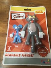 the simpsons figure Itchy And Scratchy Bendable Rare
