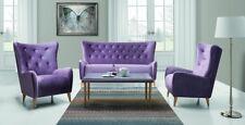 Design Luxus Lounge Sofa Landschaft Couch Polster Garnitur Stoff Lila SL27 NEU!