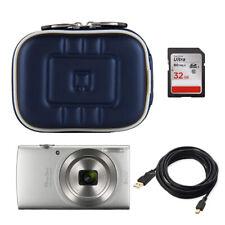 Small Compact Digital Camera Case Bag W/ Clip for Canon Powershot IXUS190/185 US