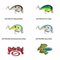 Strike King Crankbait (HC1XS) Wake Topwater Rattling Pro Model Any 4 Color Lures